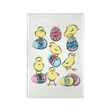HAPPY CHICKS Rectangle Magnet (100 pack)