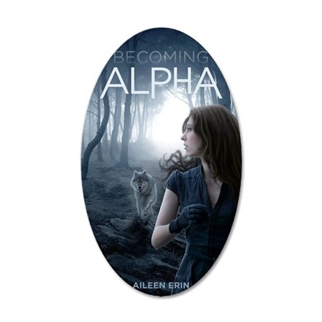 Becoming Alpha Cover 35x21 Oval Wall Decal