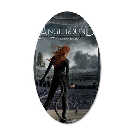 Angelbound Cover 35x21 Oval Wall Decal