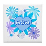 Liliac Heart Mom  Tile Coaster