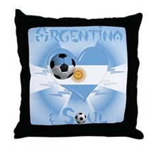 Argentine Soccer Soul Throw Pillow