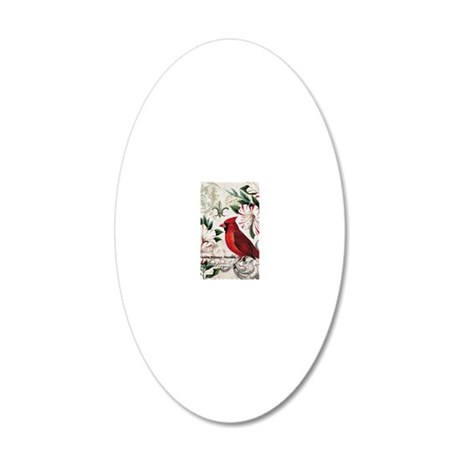 Vintage French Christmas car 20x12 Oval Wall Decal