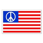 Peace Flag Rectangular Sticker