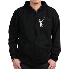 Fisherman Silhouette Zip Hoody