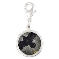 Hour of the Raven Silver Round Charm