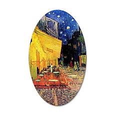Van Gogh, Cafe Terrace at Ni 35x21 Oval Wall Decal