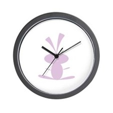 PURPLE BUNNY Wall Clock