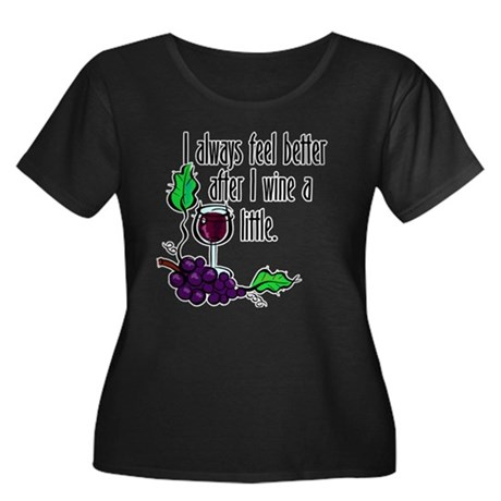 I Whine & Wine Women's Plus Size Scoop Neck Dark T