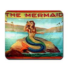 Vintage Mermaid Carnival Poster Mousepad