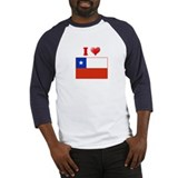 I love Chile Flag Baseball Jersey