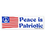 Peace is Patriotic Flag Bumper Sticker