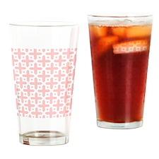 Pale Pink Cross Pattern Drinking Glass