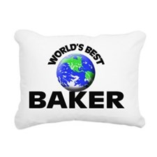 World's Best Baker Rectangular Canvas Pillow