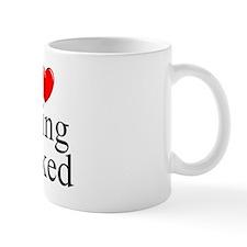 """I Love (Heart) Being Naked"" Mug"
