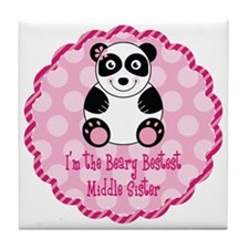 Panda Middle Sister Tile Coaster
