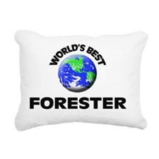 World's Best Forester Rectangular Canvas Pillow