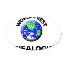 World's Best Genealogist Oval Car Magnet