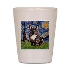 Starry-Brindle French Bulldog Shot Glass