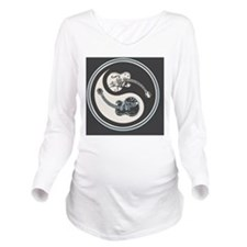 elec-guit-yang-OV Long Sleeve Maternity T-Shirt