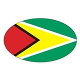 Flag of Guyana Oval Decal