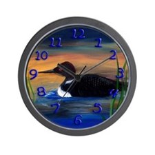 Loon Lake Wall Clock
