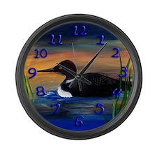 Loon Lake Large Wall Clock
