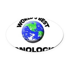 World's Best Iconologist Oval Car Magnet