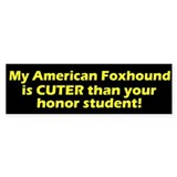 Cuter American Foxhound Bumper Bumper Sticker