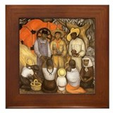 Diego Rivera Art Framed Tile Triumph of Revolution
