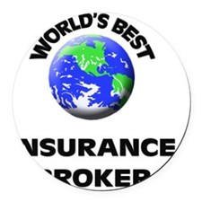 World's Best Insurance Broker Round Car Magnet