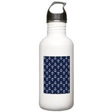Blue Anchors Water Bottle