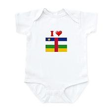 I love Central African Republ Infant Bodysuit