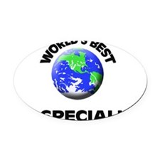 World's Best Pr Specialist Oval Car Magnet