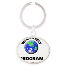 World's Best Program Researcher Oval Keychain