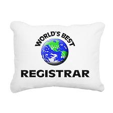 World's Best Registrar Rectangular Canvas Pillow