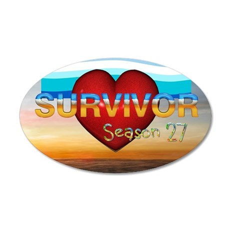survivor27v1 35x21 Oval Wall Decal
