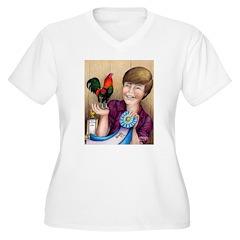 Best Bantam Rooster Women's Plus Size V-Neck T-Shi