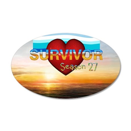 survivor27sq 35x21 Oval Wall Decal