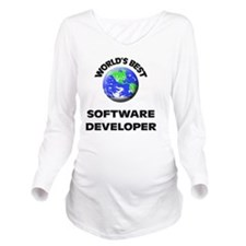 World's Best Softwar Long Sleeve Maternity T-Shirt