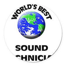 World's Best Sound Technician Round Car Magnet