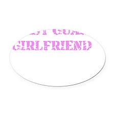 Coast Guard Girlfriend Oval Car Magnet