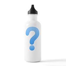 Question Mark - Blue Water Bottle