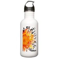 Orange Sunflower Burst Water Bottle