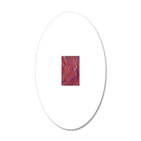Abstract Colorful marble tex 20x12 Oval Wall Decal