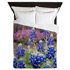 BLUEBONNET SHOWER CURTAIN Queen Duvet