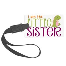 Little Sister Dinosaur Luggage Tag