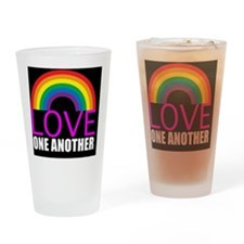 loveoneanotherbutton Drinking Glass
