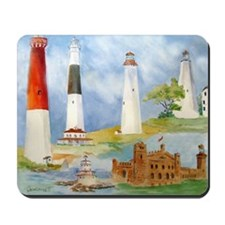 New Jersey Light houses Mousepad