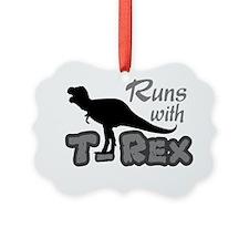 Runs with T Rex Ornament
