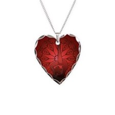 Gymnastics Artistic Beam Red Necklace Heart Charm